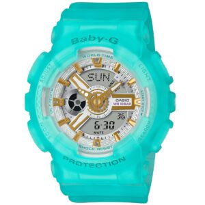 Casio Baby-G Sea Glass Quartz Blue Dial Blue Resin Strap Ladies' Watch BA-110SC-2AER