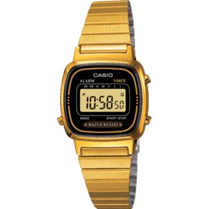 Casio Collection Quartz Digital Dial Gold Stainless Steel Bracelet Ladies' Watch LA670WEGA-1EF