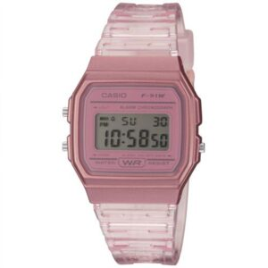 Casio Collection Quartz Digital Dial Pink Resin Strap Ladies' Watch F-91WS-4EF