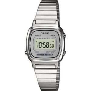 Casio Collection Quartz Digital Dial Silver Stainless Steel Bracelet Ladies' Watch LA670WEA-7EF