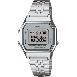 Casio Collection Quartz Digital Dial Silver Stainless Steel Bracelet Ladies' Watch LA680WEA-7EF