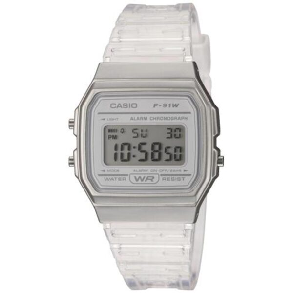 Casio Collection Quartz Digital Dial White Resin Strap Ladies' Watch F-91WS-7EF