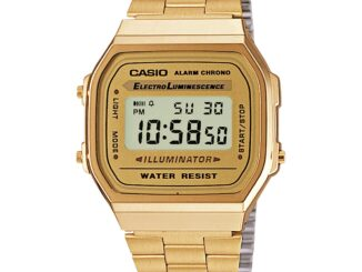 Casio Collection Quartz Gold Digital Dial Gold Stainless Steel Bracelet Ladies' Watch A168WG-9EF