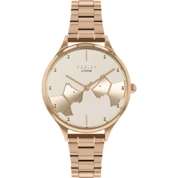 Radley Face To Face Quartz Rose Dial Stainless Steel Bracelet Ladies Watch RY4514