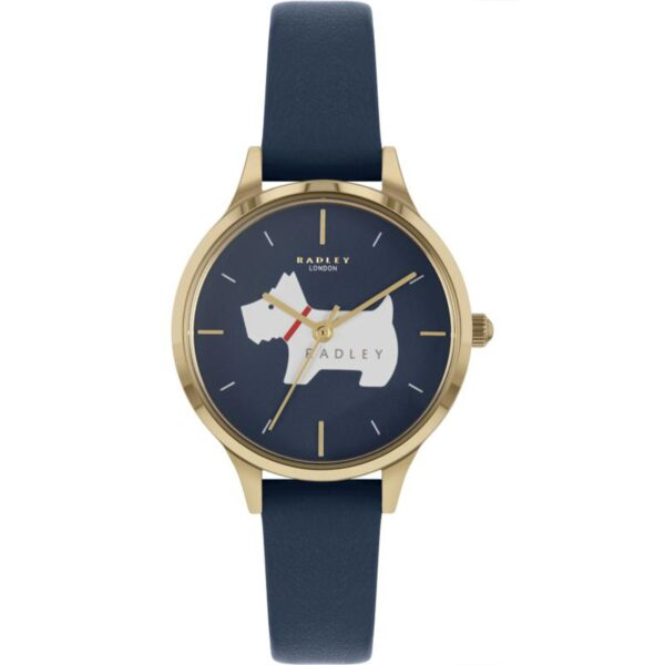 Radley Meridan Place Quartz Blue Dial Leather Strap Ladies Watch RY2974