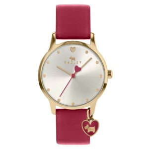 Radley Quartz Silver Dial Red Leather Strap Ladies Watch RY2920A