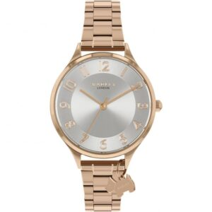 Radley Saxon Road Quartz Silver Dial Rose Gold PVD Stainless Steel Bracelet Ladies Watch RY4506