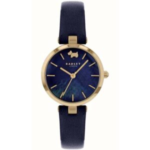 Radley West View Quartz Blue Dial Leather Strap Ladies Watch RY2972