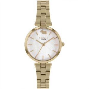 Radley West View Quartz White Dial Gold PVD Stainless Steel Bracelet Ladies Watch RY4512
