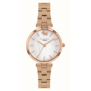 Radley West View Quartz White Dial Rose Gold PVD Stainless Steel Bracelet Ladies Watch RY4510