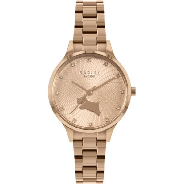 Radley Wilton Way Quartz Rose Gold Dial Stainless Steel Bracelet Ladies Watch RY4518
