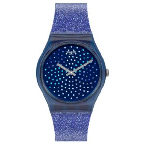 Swatch Blumino Quartz Blue Dial Silicone Strap Ladies Watch GN270