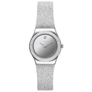 Swatch Sideral Grey Quartz Synthetic Strap Ladies Watch YSS337